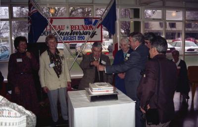 1990 Reunion Cake Cutting